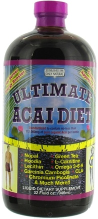 DROPPED: Only Natural - Ultimate Acai Diet - 32 oz. CLEARANCE PRICED