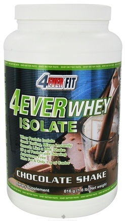 DROPPED: 4Ever Fit - 4Ever Whey Protein Isolate Chocolate Shake - 1.8 lbs. CLEARANCE PRICED