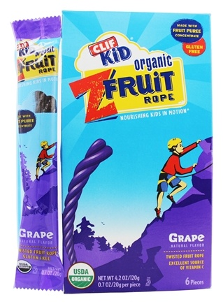 Clif Bar - Kid Organic Twisted Fruit Rope Grape - 6 Pack