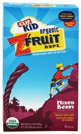 Clif Bar - Kid Organic Twisted Fruit Rope Mixed Berry - 6 Pack