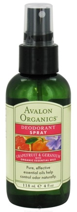 DROPPED: Avalon Organics - Deodorant Spray with Organic Essential Oils Grapefruit & Geranium - 4 oz.