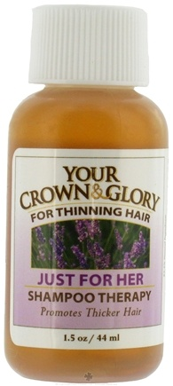 DROPPED: Your Crown and Glory - Just For Her Shampoo Therapy Trial Size - 1.5 oz. CLEARANCE PRICED