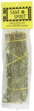 DROPPED: Sage Spirit - Smudge Wand Large Sage & Copal - 6 in. CLEARANCE PRICED