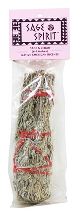 Sage Spirit - Smudge Wand Large Sage & Cedar - 6 in.