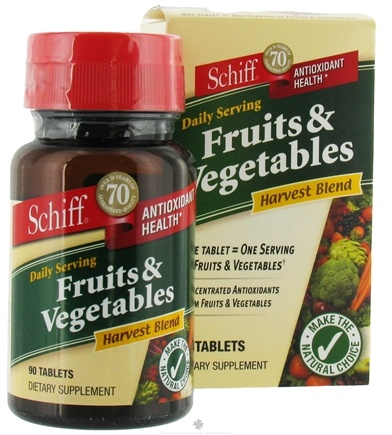 DROPPED: Schiff - Fruits and Vegetables - 90 Tablets