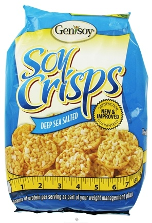 DROPPED: Genisoy - Soy Crisps Naturally Flavored Deep Sea Salted - 3.85 oz.