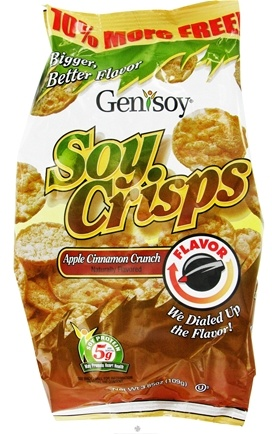 DROPPED: Genisoy - Soy Crisps Naturally Flavored Apple Cinnamon Crunch - 3.85 oz. CLEARANCE PRICED