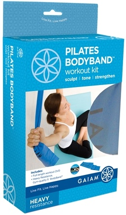 Zoom View - Pilates BodyBand Workout Kit- Heavy Resistance- Blue