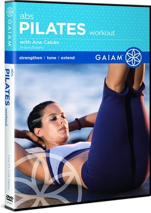 DROPPED: Gaiam - Pilates Abs Workout DVD with Ana Caban - CLEARANCE PRICED