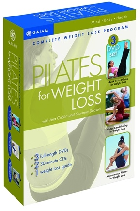DROPPED: Gaiam -  Pilates for Weight Loss DVD with Ana Caban and Suzanne Deason - CLEARANCE PRICED