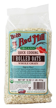 Bob's Red Mill - Organic Quick Cooking Rolled Oats - 16 oz.