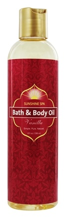 Sunshine Spa - Bath & Body Oil Vanilla - 8 oz.