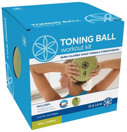 DROPPED: Gaiam - Toning Ball Workout Kit - CLEARANCE PRICED