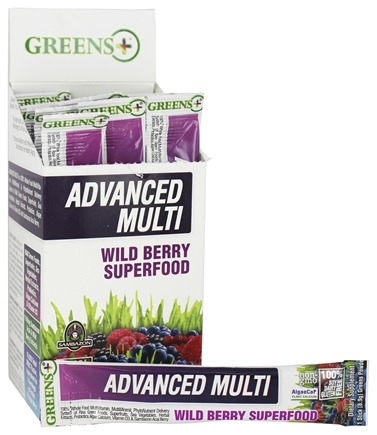 DROPPED: Greens Plus - Advanced Multi Stick Pack Box Wild Berry Superfood - 15 Stick(s)