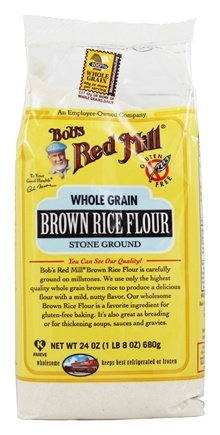 Bob's Red Mill - Gluten Free Whole Grain Brown Rice Flour - 24 oz.