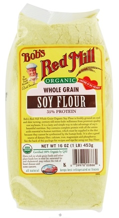 DROPPED: Bob's Red Mill - Soy Flour Whole Grain Organic - 16 oz. CLEARANCE PRICED