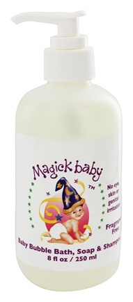 Magick Botanicals - Magick Baby Bubble Bath Soap & Shampoo Fragrance Free - 8 oz.