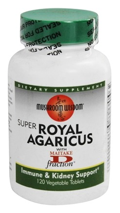 DROPPED: Mushroom Wisdom - Super Royal Agaricus with Maitake D Fraction - 120 Vegetarian Tablets Formerly Maitake Products