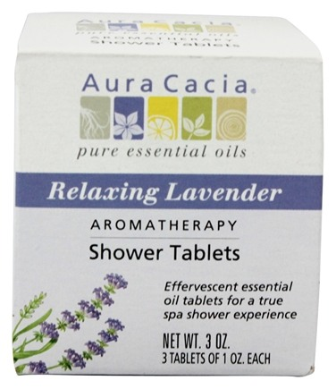 Aura Cacia - Aromatherapy Shower Tablets Relaxing Lavender - 3 oz.