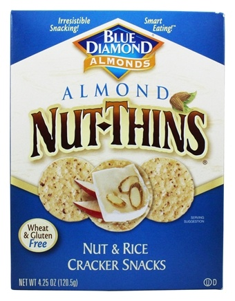 Blue Diamond Growers - Almond Nut-Thins Nut & Rice Cracker Snacks Original - 4.25 oz.
