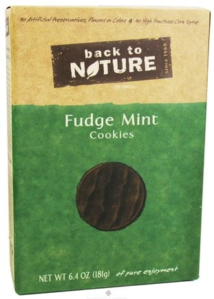 DROPPED: Back To Nature - Cookies Fudge Mint - 6.4 oz.