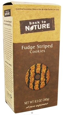 DROPPED: Back To Nature - Cookies Fudge Striped - 8.5 oz. CLEARANCE PRICED