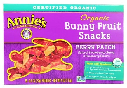 Annie's - Organic Bunny Fruit Snacks Berry Patch - 4 oz.