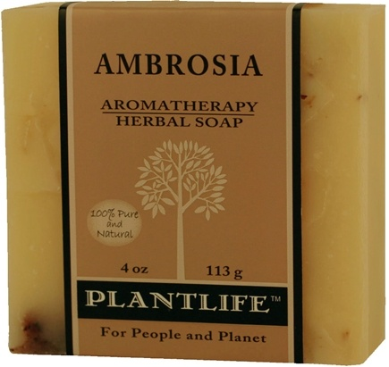 DROPPED: Plantlife Natural Body Care - Aromatherapy Herbal Soap Ambrosia - 4 oz. CLEARANCE PRICED