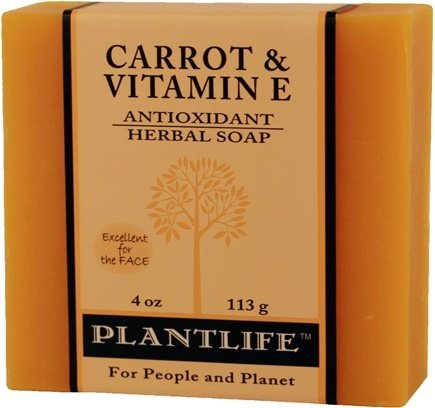 DROPPED: Plantlife Natural Body Care - Aromatherapy Herbal Soap Carrot & Vitamin E - 4 oz. CLEARANCE PRICED