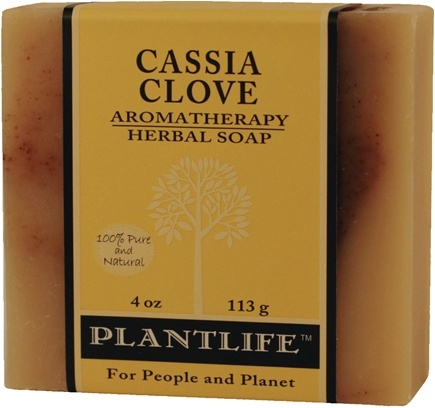 DROPPED: Plantlife Natural Body Care - Aromatherapy Herbal Soap Cassia Clove - 4 oz. CLEARANCE PRICED