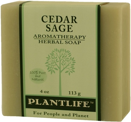 Zoom View - Aromatherapy Herbal Soap Cedar Sage