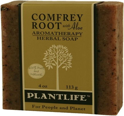 DROPPED: Plantlife Natural Body Care - Aromatherapy Herbal Soap Comfrey Root with Aloe - 4 oz.