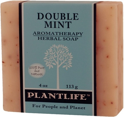 DROPPED: Plantlife Natural Body Care - Aromatherapy Herbal Soap Double Mint - 4 oz. CLEARANCE PRICED