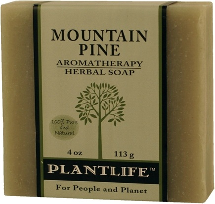 DROPPED: Plantlife Natural Body Care - Aromatherapy Herbal Soap Mountain Pine - 4 oz. CLEARANCE PRICED