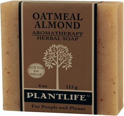 DROPPED: Plantlife Natural Body Care - Aromatherapy Herbal Soap Oatmeal Almond - 4 oz. CLEARANCE PRICED