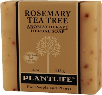 DROPPED: Plantlife Natural Body Care - Aromatherapy Herbal Soap Rosemary Tea Tree - 4 oz. CLEARANCE PRICED