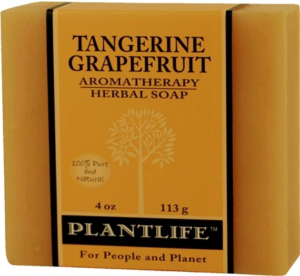 DROPPED: Plantlife Natural Body Care - Aromatherapy Herbal Soap Tangerine Grapefruit - 4 oz. CLEARANCE PRICED