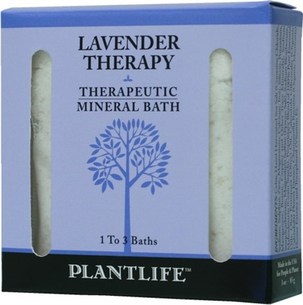 DROPPED: Plantlife Natural Body Care - Therapeutic Mineral Bath Lavender Therapy - 3 oz. CLEARANCE PRICED