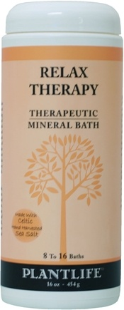 DROPPED: Plantlife Natural Body Care - Therapeutic Mineral Bath Relax Therapy - 16 oz. CLEARANCE PRICED