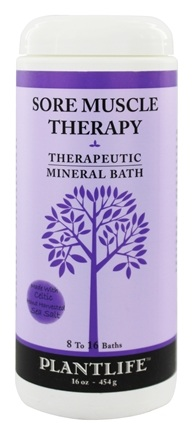 Plantlife Natural Body Care - Therapeutic Mineral Bath Sore Muscle Therapy - 16 oz.