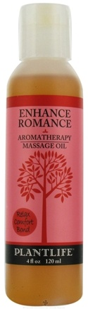 DROPPED: Plantlife Natural Body Care - Aromatherapy Massage Oil Enhance Romance - 4 oz. CLEARANCE PRICED