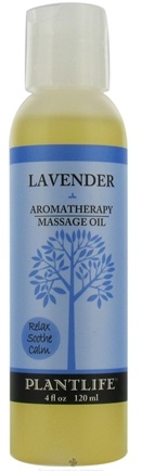 DROPPED: Plantlife Natural Body Care - Aromatherapy Massage Oil Lavender - 4 oz. CLEARANCE PRICED