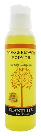 DROPPED: Plantlife Natural Body Care - Body Oil For Soft Silky Skin Orange Blossom - 4 oz.