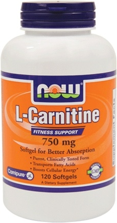 DROPPED: NOW Foods - L-Carnitine Fitness Support 750 mg. - 120 Softgels