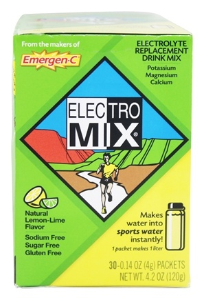 DROPPED: Alacer - Electro-Mix Electrolyte Replacement Drink Mix Natural Lemon Lime - 30 Packet(s)