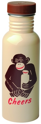 Zoom View - Get Real Cheers Monkey Stainless Steel Water Bottle