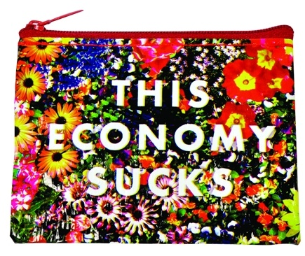 DROPPED: Blue Q - Get Real This Economy Sucks Coin Purse