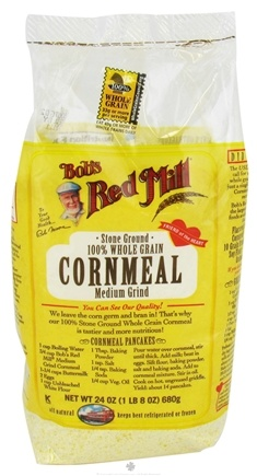 DROPPED: Bob's Red Mill - Cornmeal Medium Grind 100% Whole Grain Stone Ground - 24 oz. CLEARANCE PRICED