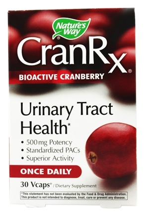 DROPPED: Nature's Way - CranRx BioActive Cranberry Urinary Health - 30 Vegetarian Capsules