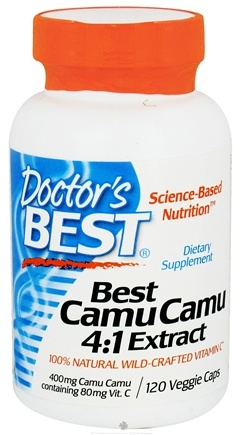 DROPPED: Doctor's Best - Best Camu Camu 4:1 Extract 400 mg. - 120 Vegetarian Capsules